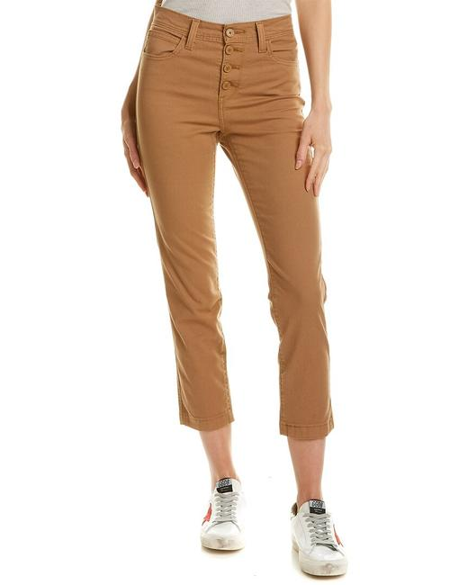 Item - Brown High-rise Straight Crop 55739-0004 Capri/Cropped Jeans