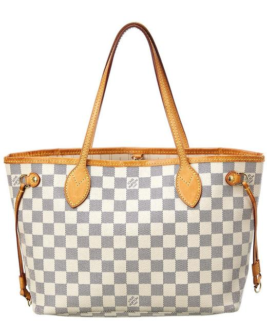 Item - Neverfull Pre-owned Damier Azur Canvas Pm 127166 Tote