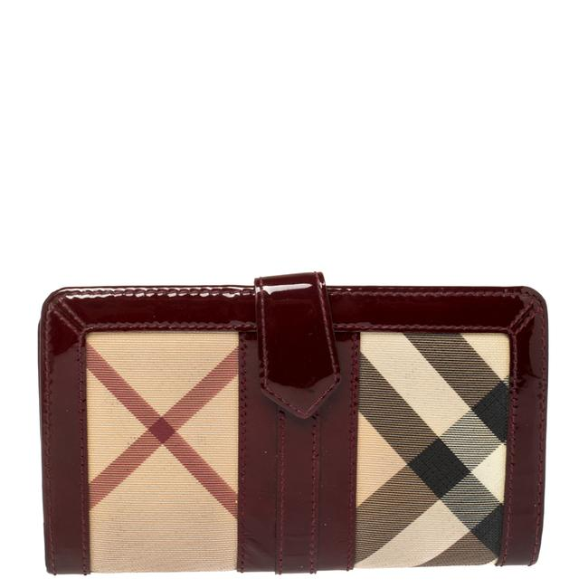 Item - Beige/Red Pvc and Patent Leather Penrose Continental Wallet