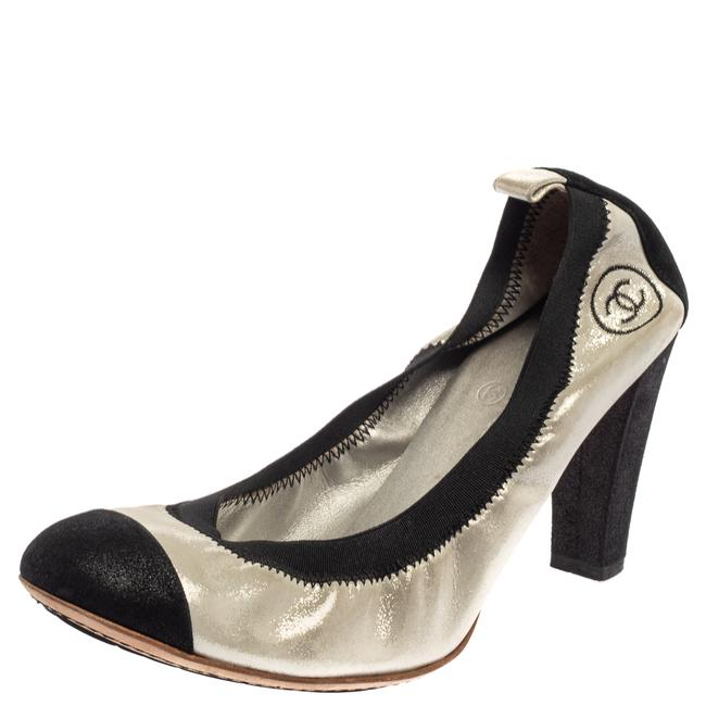Item - Silver/Black Fabric and Suede Cc Spirit Size 40.5 Pumps