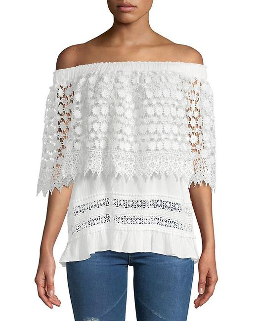 Item - Mixed Lace Off-the-shoulder Top 400097850320 Blouse