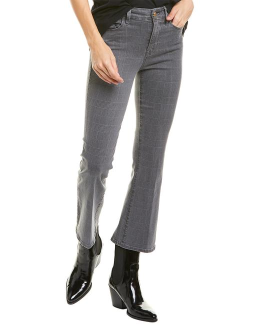Item - Le Crop Washed Grey Plaid Mini Bootcut Lcmbpl403p Capri/Cropped Jeans