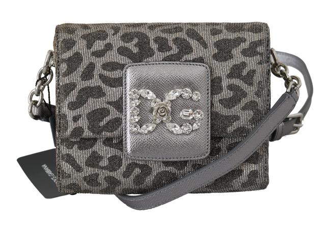 Item - Dolce & Gabbana Gray Leopard #dg Girls Mini Crystal Women's Purse Cross Body Bag