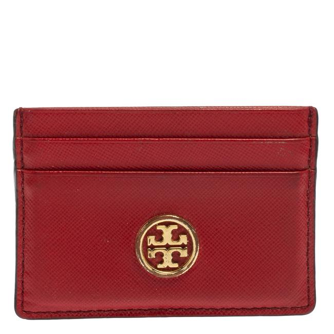 Item - Robinson Red Leather Card Holder Wallet