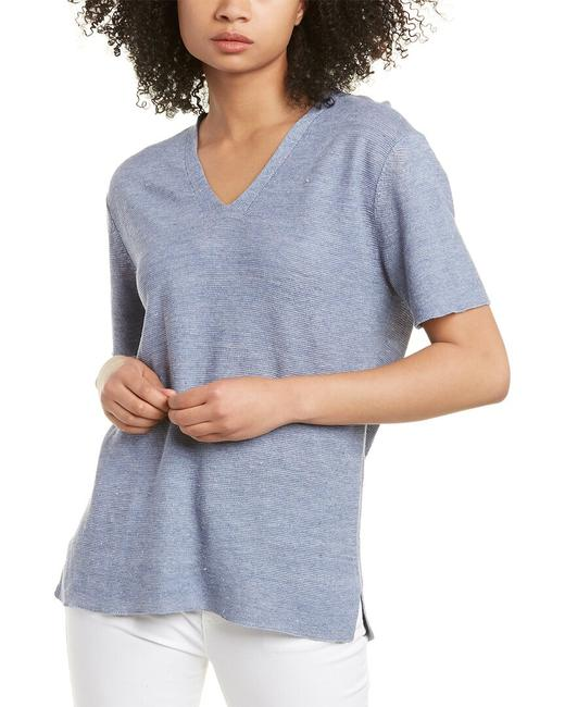 Item - V-neck Linen Top S0iwc-w5477m Sweater/Pullover