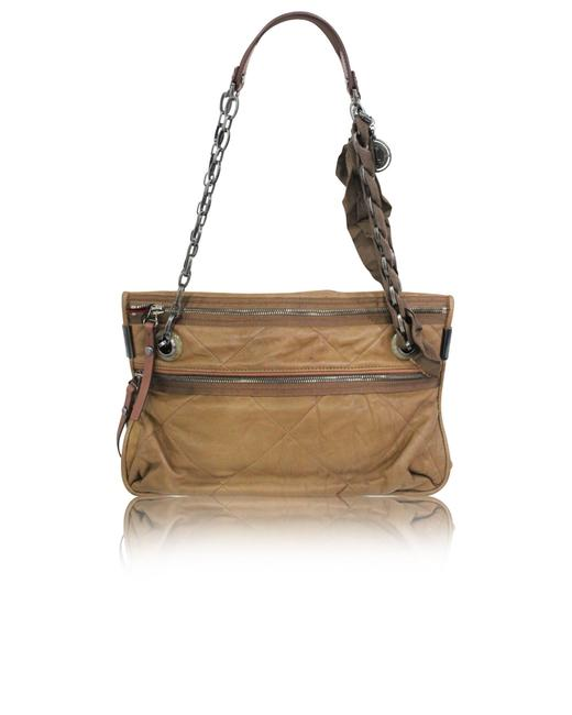 Item - Amalia Calf Furry Brown Shoulder Bag