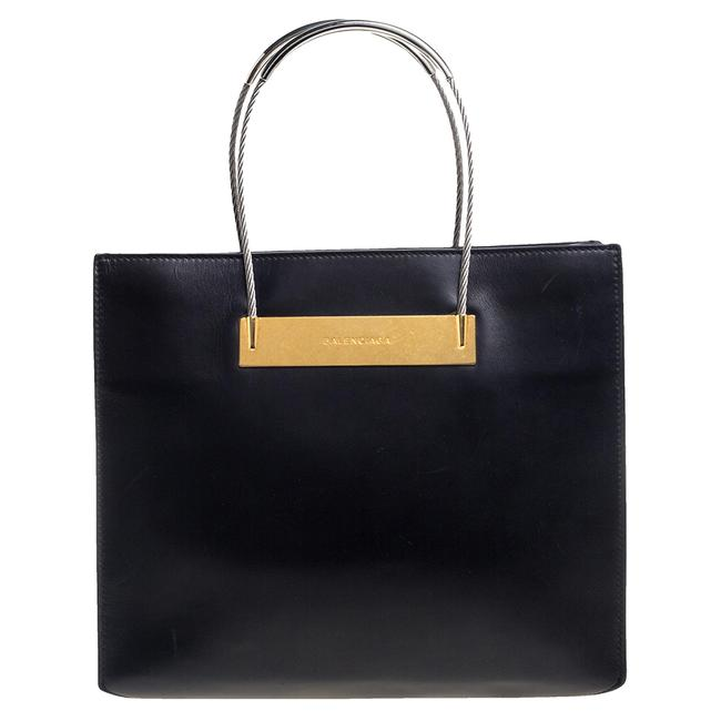 Item - Leather Small Cable Shopper Tote