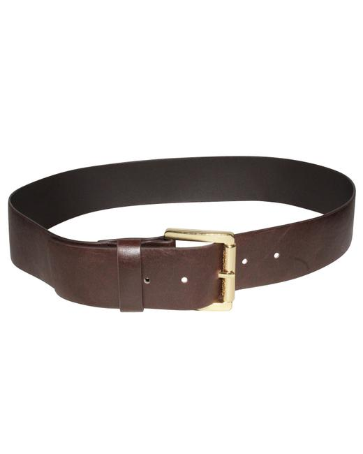 Michael Kors Brown Leather with Gold Buckle Belt Michael Kors Brown Leather with Gold Buckle Belt Image 1