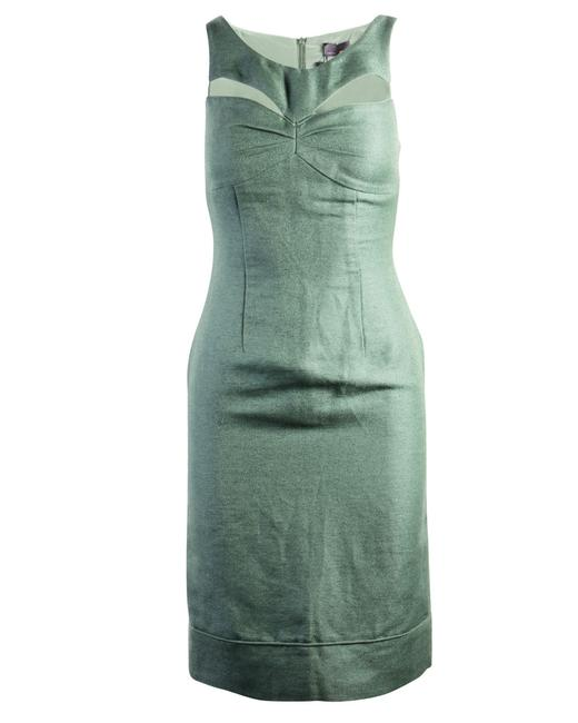 Item - Green Linen Cut Out Dress