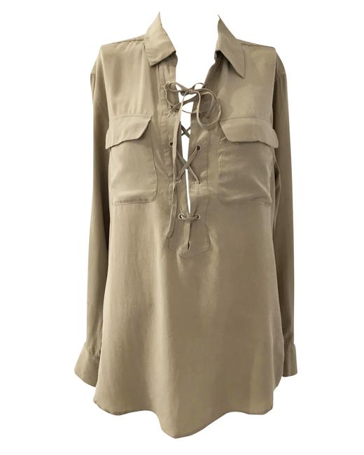Item - Drawstring Long Sleeve Shirt -pre Owned Condition Good Us4 Blouse