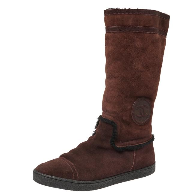 Item - Brown Suede Mid Length Size 40 Boots/Booties