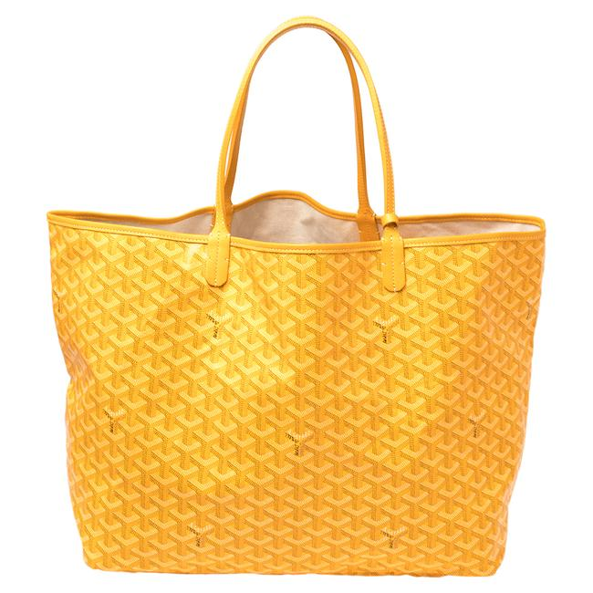 Item - Yellow ine Coated Canvas St. Louis Gm Tote