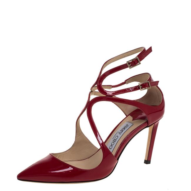 Jimmy Choo Red Patent Leather Lancer Size 36.5 Pumps Jimmy Choo Red Patent Leather Lancer Size 36.5 Pumps Image 1