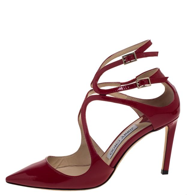 Jimmy Choo Red Patent Leather Lancer Size 36.5 Pumps Jimmy Choo Red Patent Leather Lancer Size 36.5 Pumps Image 2