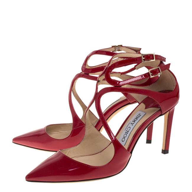 Jimmy Choo Red Patent Leather Lancer Size 36.5 Pumps Jimmy Choo Red Patent Leather Lancer Size 36.5 Pumps Image 4