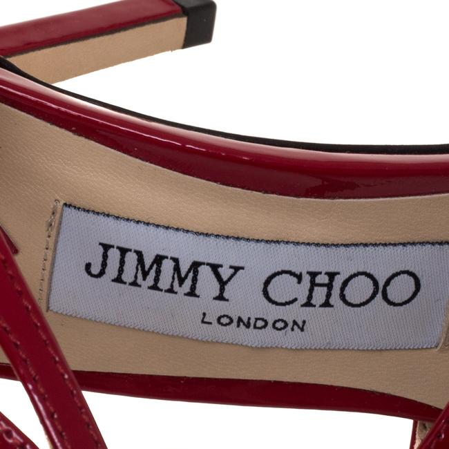 Jimmy Choo Red Patent Leather Lancer Size 36.5 Pumps Jimmy Choo Red Patent Leather Lancer Size 36.5 Pumps Image 7