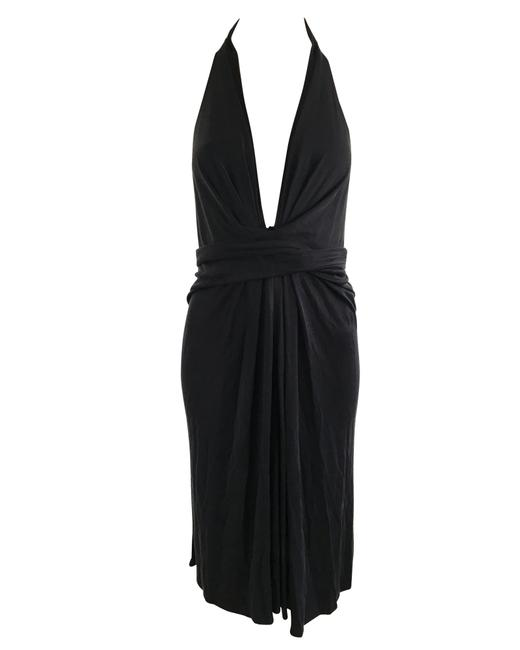 Item - Black Cotton Infinity Cocktail -pre Owned Condition Formal Dress