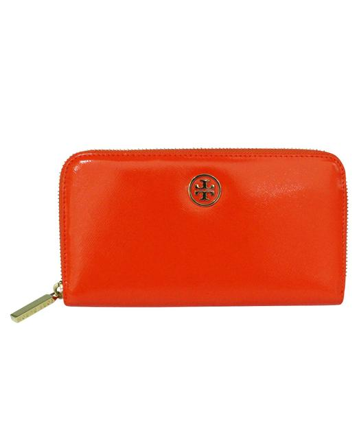 Item - Orange Zip Continental Wallet