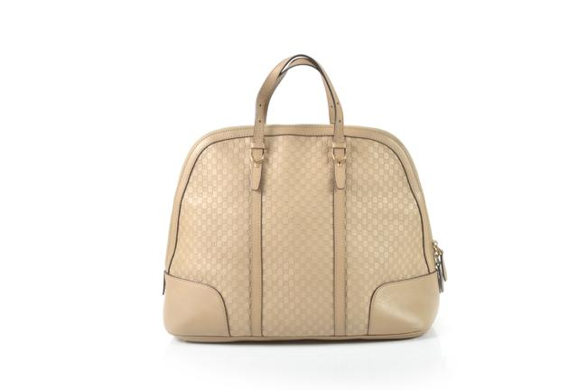 Item - Top Handle Bag Beige Leather Nice ssima Large Tote
