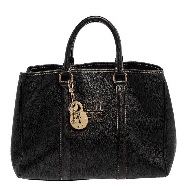 Item - Black Leather Matteo Tote
