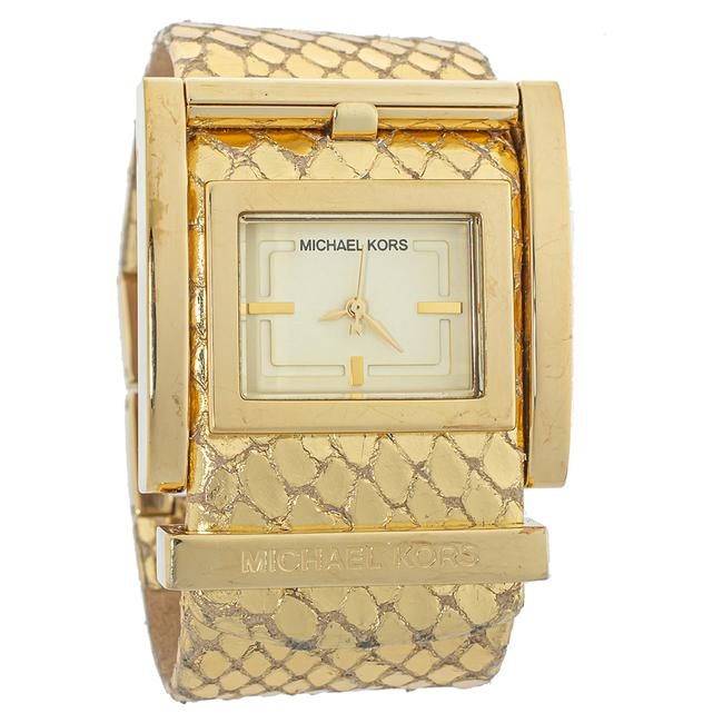 Item - Yellow Gold Plated Stainless Steel Mk2133 Women's Wristwatch 38 Mm Watch