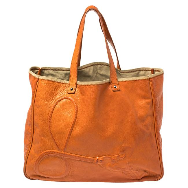 Item - Yves Orange Leather Charms Tote