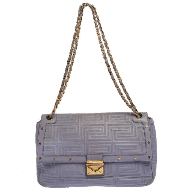 Item - Gianni Lilac Quilted Patent Leather Flap Shoulder Bag