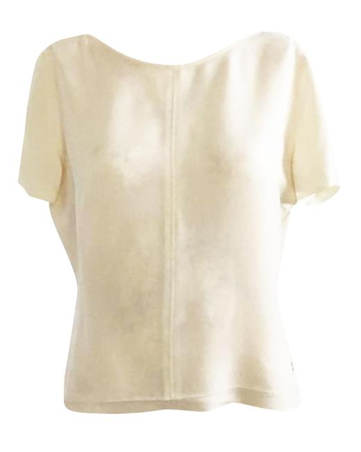 Item - Ivory Polyester Shirt -pre Owned Condition Good Fr44 Tank Top/Cami