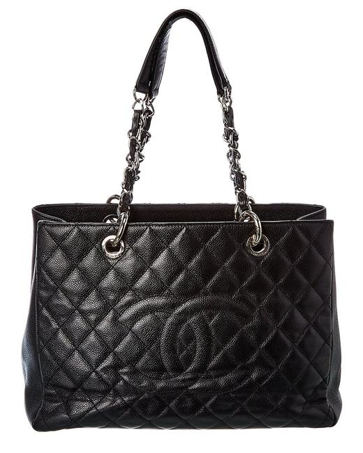 Item - Shopping Pre-owned Quilted Caviar Leather Grand 130585 Tote