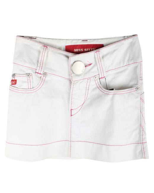 Item - XS White Denim -pre Owned Condition Very Good Skirt