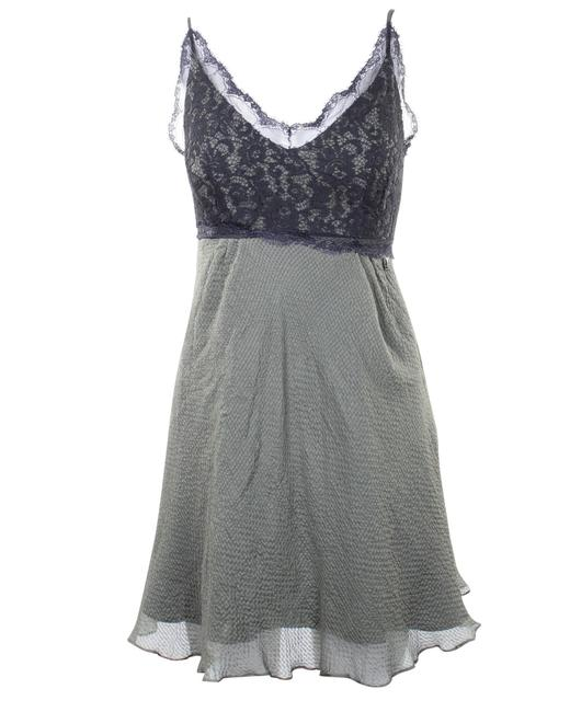 Item - Khaki with Lace Details -pre Owned Condition Very Formal Dress