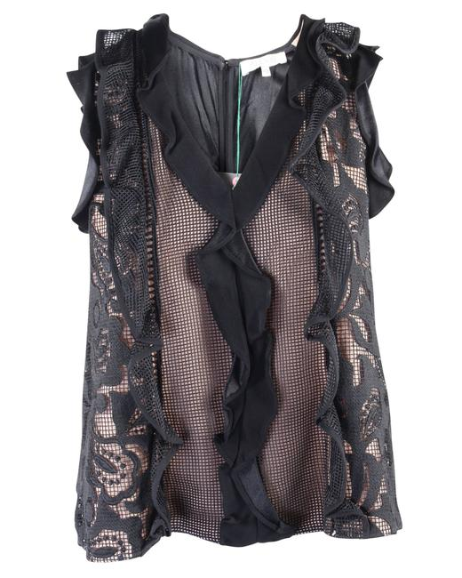 Item - Black Lace Sleeveless Top -pre Owned Condition Very Good Blouse