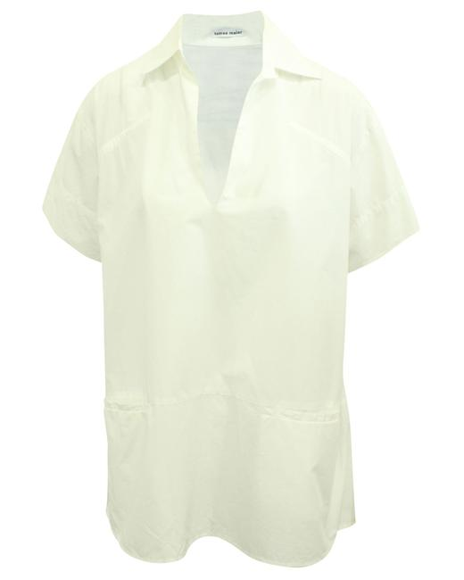 Item - Oversized White with Front Pockets -pre Owned Tee Shirt