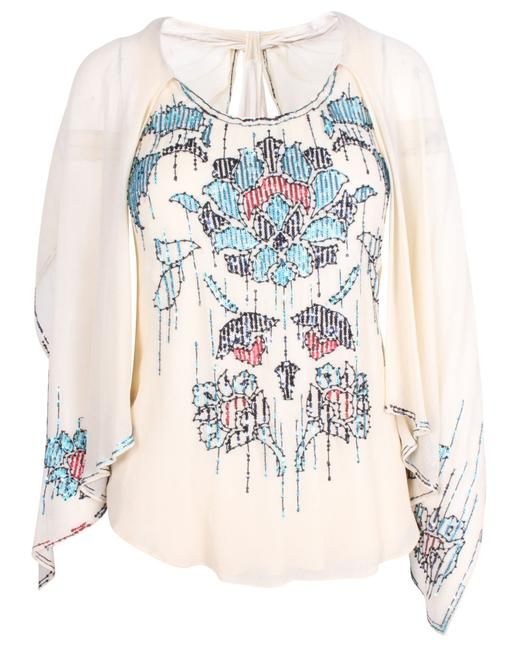 Item - Silk Tank Top with Maya Embroideries -pre Owned Blouse