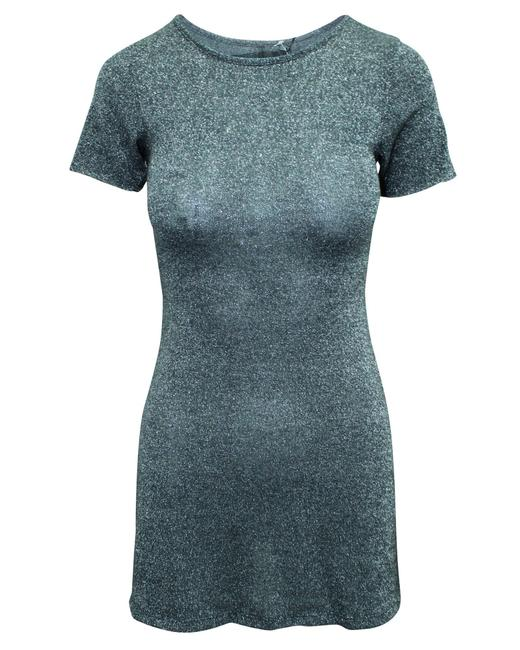 Item - Mini Gray with Silver Tread -pre Owned Condition Formal Dress