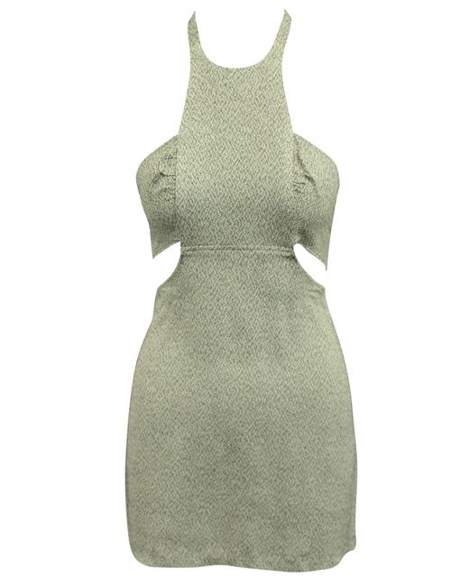 Item - Mini Gray Open Back -pre Owned Condition Very Good Cocktail Dress