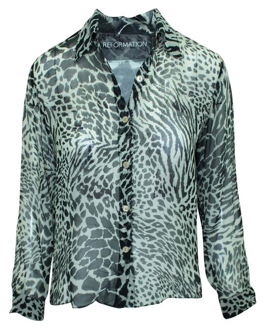 Item - XS Animal Print -pre Owned Condition Very Good Blouse
