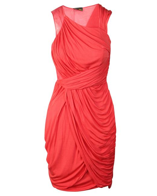 Item - Coral Drape -pre Owned Condition Very Good Fr40 Cocktail Dress