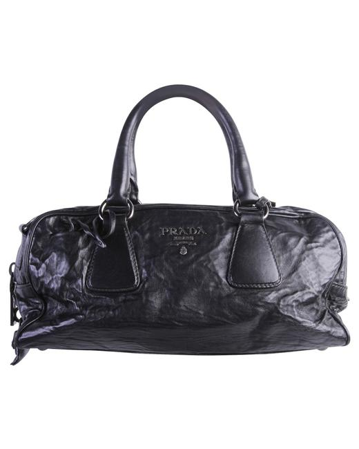 Item - Top Handle Bag Vitello Shine Leather -pre Owned Condition Tote
