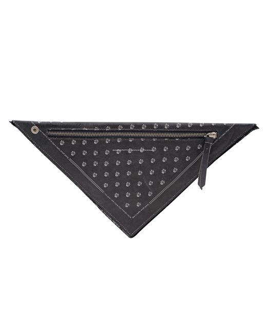 Item - Triangle Leather 'bandana' -pre Owned Clutch