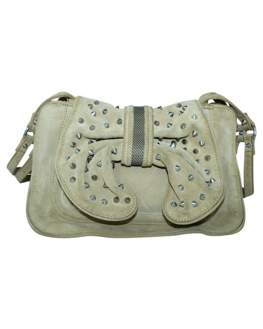 Item - Edie Bow with Studs -pre Owned Condition Shoulder Bag
