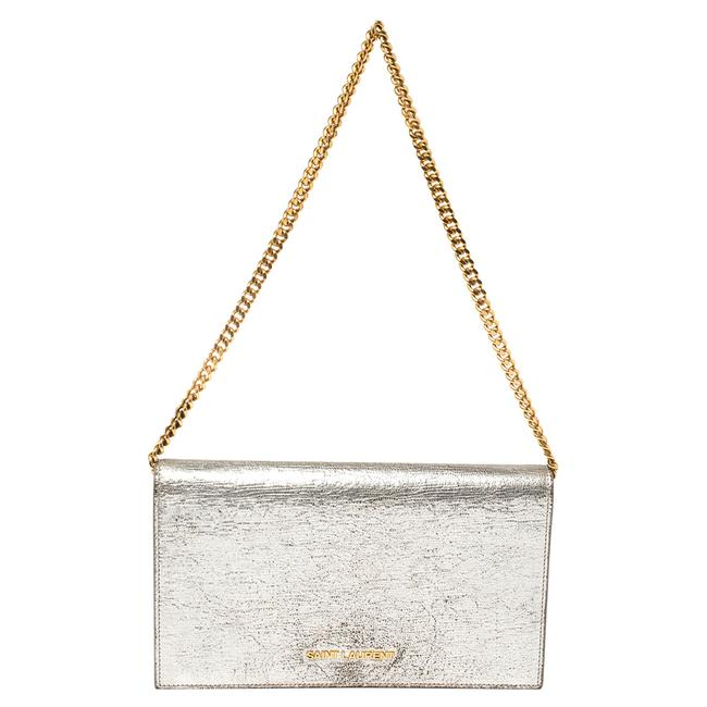 Item - Silver Leather Chain Clutch