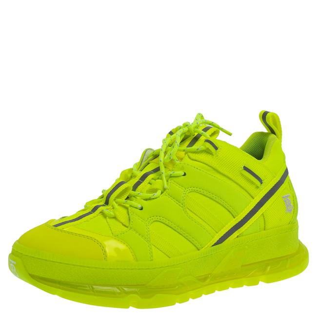 Item - Fluorescent Yellow Nylon and Polyamide Union Low Top Sneakers Size 40 Athletic