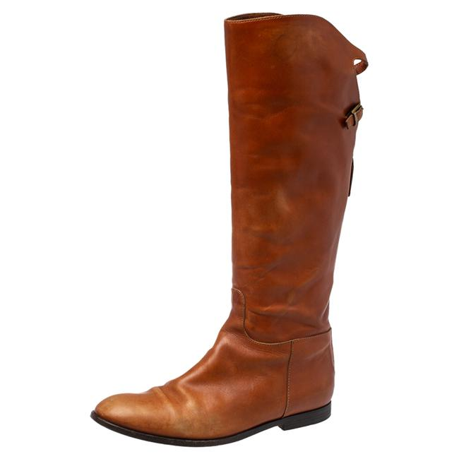 Item - Brown Leather Midcalf Size 38 Boots/Booties