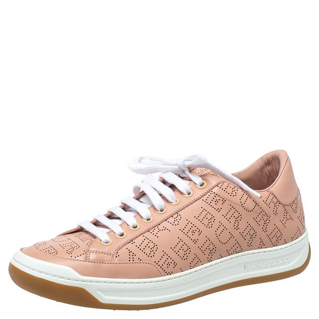 Item - Pink Perforated Leather Timsbury Low Top Sneakers Size 41 Athletic