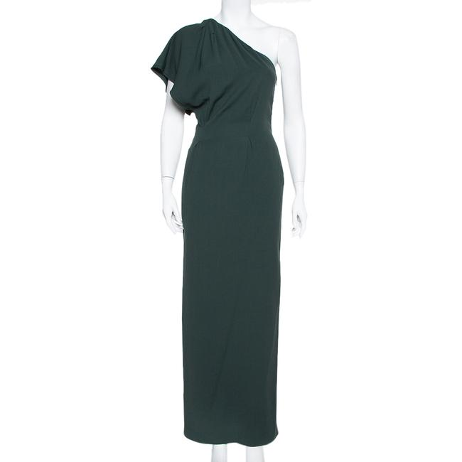 Item - Dark Green Crepe One Shoulder Casual Maxi Dress