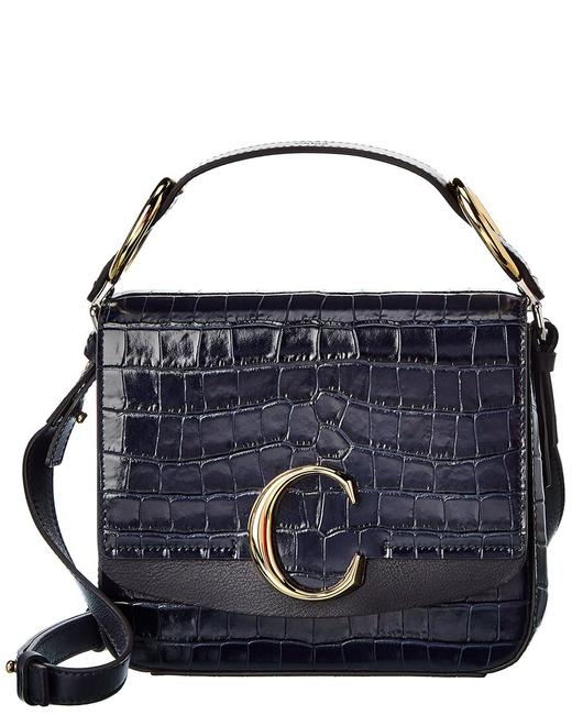 Chloé C Small Croc-embossed Leather Chc19ws199 A87 4d4 Shoulder Bag Chloé C Small Croc-embossed Leather Chc19ws199 A87 4d4 Shoulder Bag Image 1