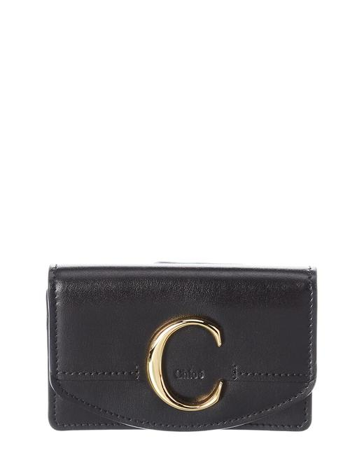 Chloé C Leather Business Card Holder Chc19ap087 A37 001 Accessory Chloé C Leather Business Card Holder Chc19ap087 A37 001 Accessory Image 1