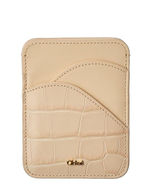 Item - Croc-embossed Leather Card Holder Chc19up300 B06 24q Wallet