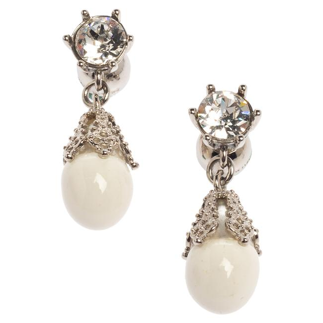 Burberry Palladium Plated White Faux Pearl Teardrop Earrings Jewelry Burberry Palladium Plated White Faux Pearl Teardrop Earrings Jewelry Image 3